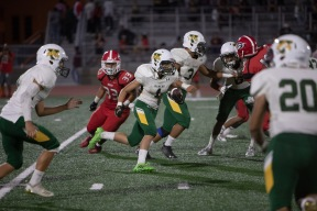 Looking for room to run is Rancho's Alejandro Lopez (1)