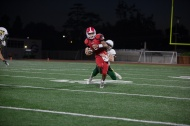 A familiar match up, Rancho's Kyle Culbert tackles Argo Willie Sanders.